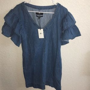 7 for all Mankind XS denim dress new with tag